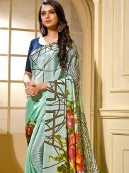 Green Printed Casual Trendy Saree