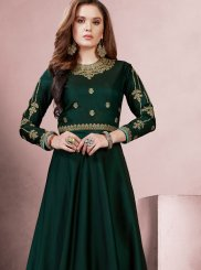 Green Readymade Gown