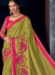 Green Reception Art Silk Designer Saree
