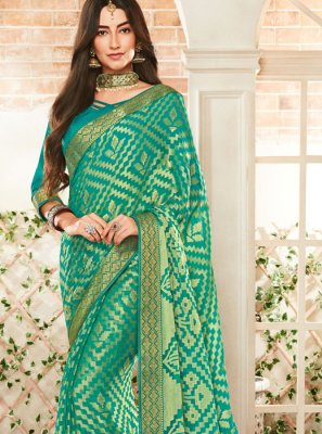 Green Reception Classic Saree