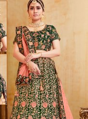 Green Reception Designer Lehenga Choli