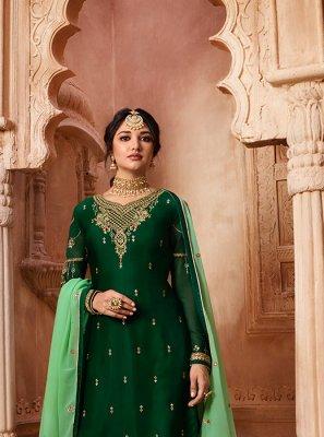 Green Resham Designer Pakistani Suit