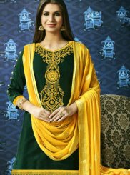 Green Resham Designer Patiala Suit