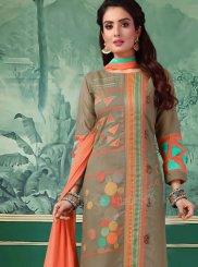 Green Sangeet Churidar Designer Suit