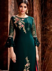 Green Sangeet Designer Straight Suit