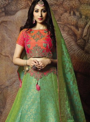 Green Sangeet Trendy Lehenga Choli
