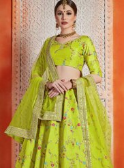 Green Sequins Reception Designer Lehenga Choli