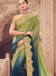 Green Shaded Saree