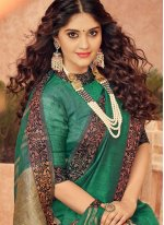 Green Silk Bridal Traditional Designer Saree
