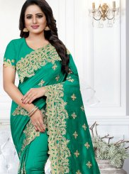 Green Silk Party Traditional Saree