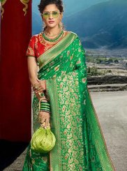 Green Silk Weaving Designer Traditional Saree