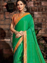 Green Thread Designer Saree