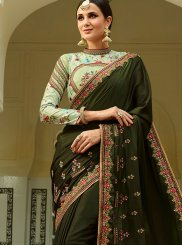 Green Traditional Designer Saree