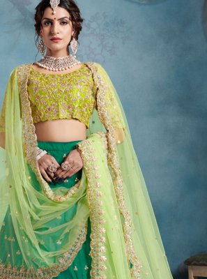 Green Trendy Designer Lehenga Choli