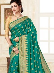 Green Uppada Silk Trendy Saree