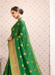 Green Weaving Art Silk Traditional Designer Saree