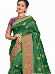 Green Weaving Art Silk Traditional Saree