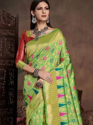 Green Weaving Casual Saree