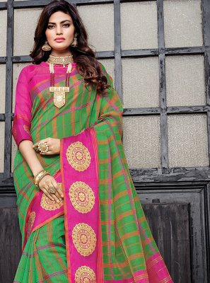Green Weaving Ceremonial Designer Traditional Saree