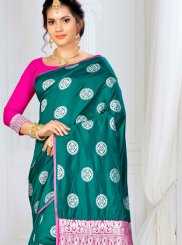 Green Weaving Ceremonial Traditional Saree
