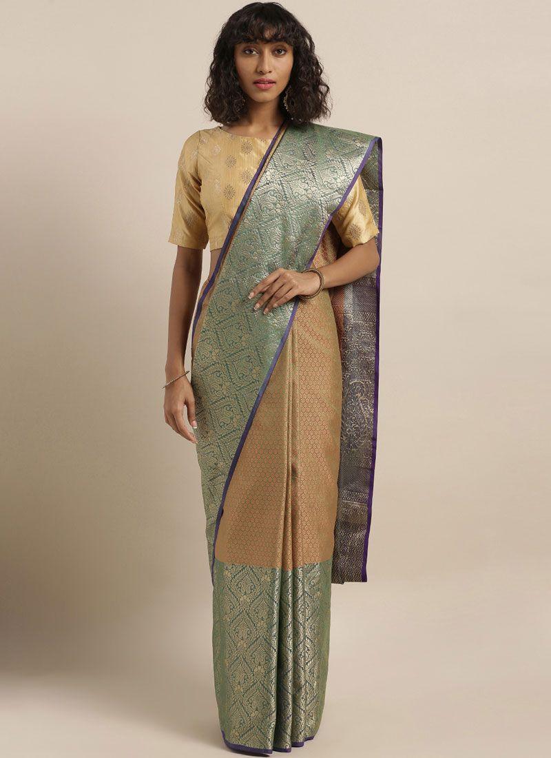 Green Weaving Classic Saree