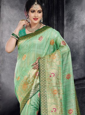 Green Weaving Designer Saree