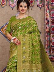 Green Weaving Fancy Fabric Designer Traditional Saree