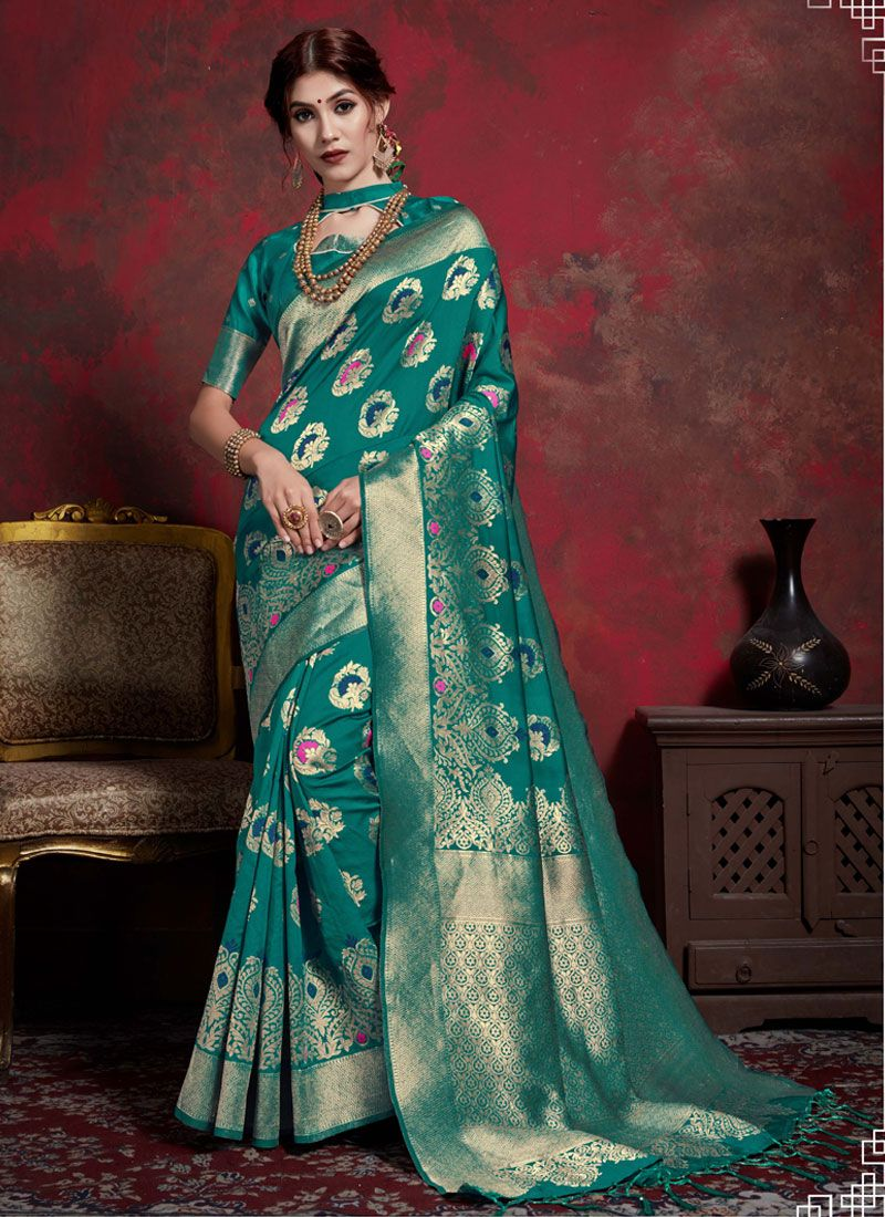 Green Weaving Festival Classic Saree