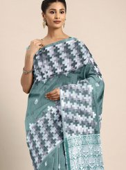 Green Weaving Festival Traditional Designer Saree