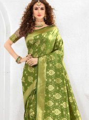 Green Weaving Traditional Designer Saree