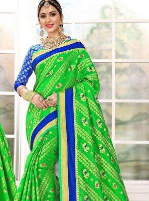 Green Weaving Traditional Saree