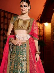 Green Wedding Banglori Silk Designer Lehenga Choli