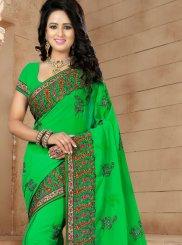 Green Wedding Trendy Saree