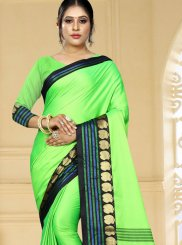 Green Woven Art Silk Designer Traditional Saree
