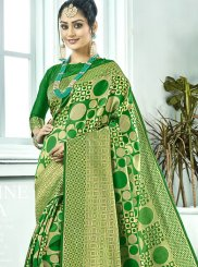Green Woven Wedding Traditional Designer Saree