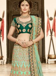 Green Zari Art Silk Lehenga Choli
