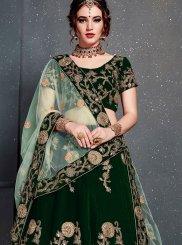 Green Zari Designer Lehenga Choli