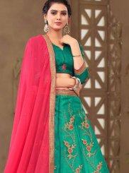 Green Zari Sangeet Trendy Lehenga Choli