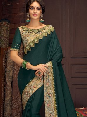 Green Zari Traditional Saree