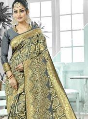 Grey Art Silk Party Designer Traditional Saree
