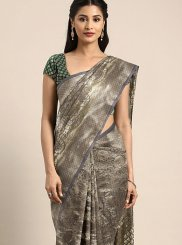 Grey Art Silk Weaving Traditional Designer Saree