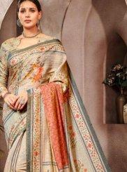 Grey Banarasi Silk Classic Saree