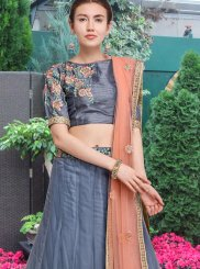 Grey Bridal Net Lehenga Choli