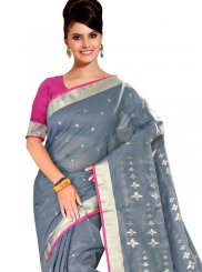 Grey Casual Casual Saree