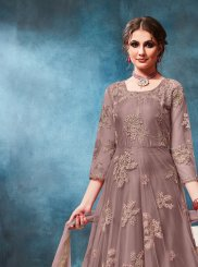Grey Ceremonial Anarkali Salwar Kameez