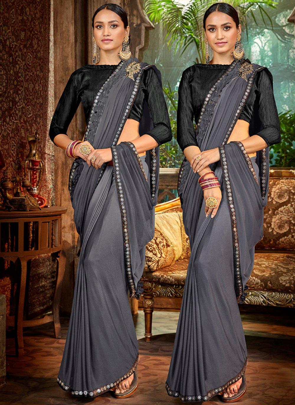 Grey Ceremonial Classic Saree