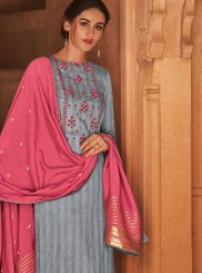 Grey Ceremonial Designer Pakistani Suit