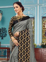 Grey Ceremonial Traditional Designer Saree