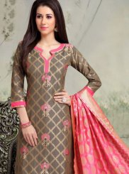 Grey Color Churidar Salwar Suit