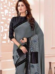 Grey Color Classic Designer Saree